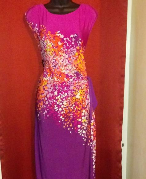 Apt. 9 Dresses & Skirts - Apt. 9 pink purple midi dress